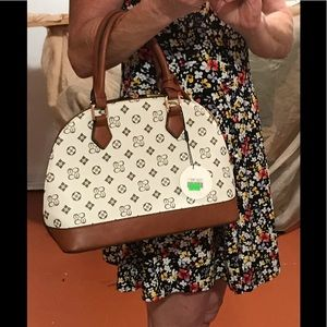Handbags - White bowling bag with wallet
